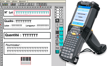 A labelling application for barcodes