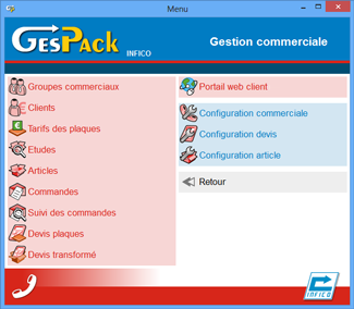 La gestion commerciale de GesPack {PNG}